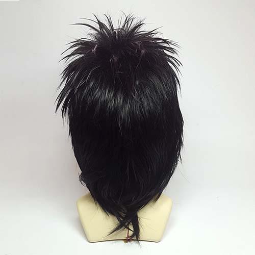Парик из искусственных волос с необычной прической #черный