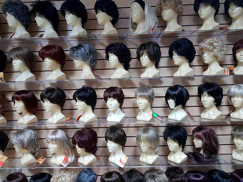 искусственный парик с длинными волосами купить