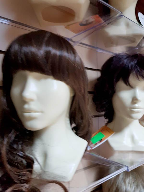 натуральный парик ручной работы с длинной стрижкой
